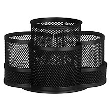 Buy Osco Wire Mesh Rotating Desk Tidy, Charcoal Online at johnlewis.com