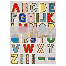 Buy Meri Meri Alphabet Stickers, Multi Online at johnlewis.com