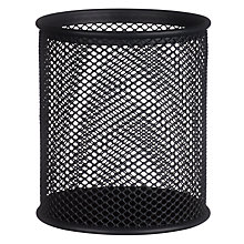 Buy Osco Wire Mesh Pen Pot, Charcoal Online at johnlewis.com
