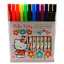 Buy Hello Kitty Home Sweet Home Colouring Pens, Pack of 12 Online at johnlewis.com