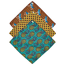 Buy Scotch & Soda Pineapple Print Pocket Squares, Pack of 3, Multi Online at johnlewis.com