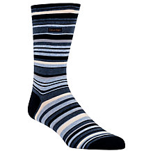 Buy Calvin Klein Barcode Stripe Socks, One Size, Navy Online at johnlewis.com