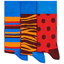 Buy Happy Socks Large Dot Socks, Pack of 3, One Size, Red/Blue Online at johnlewis.com