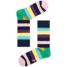 Buy Happy Socks Striped Ankle Socks, One Size Online at johnlewis.com