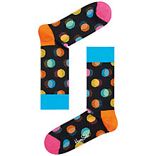 Buy Happy Socks Out Of Focus Polka Dot Socks, One Size, Black/Multi Online at johnlewis.com