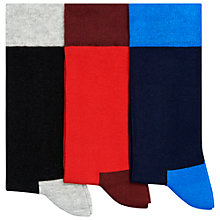 Buy Happy Socks Plain Socks, Pack of 3, One Size, Multi Online at johnlewis.com