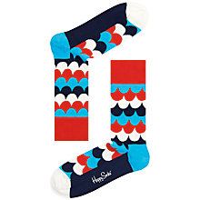 Buy Happy Socks Scales Cotton Blend Socks, One Size, Blue/Red Online at johnlewis.com