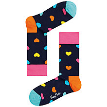 Buy Happy Socks Hearts Socks, One Size, Navy Online at johnlewis.com