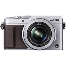 "Buy Panasonic Lumix DMC-LX100 Camera, 4K Ultra HD, 12.8MP, 3.1x Optical Zoom, 3"" LCD Screen, Silver with Memory Card Online at johnlewis.com"