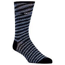 Buy Calvin Klein Space Dye Stripe Socks, One Size, Black/Blue Online at johnlewis.com