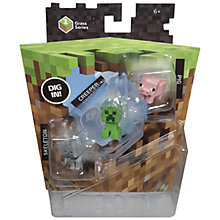 Buy Minecraft Figures, Pack of 3, Assorted Online at johnlewis.com