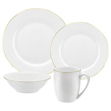 Buy Royal Worcester Serendipity Gold China Set, 16 Pieces Online at johnlewis.com