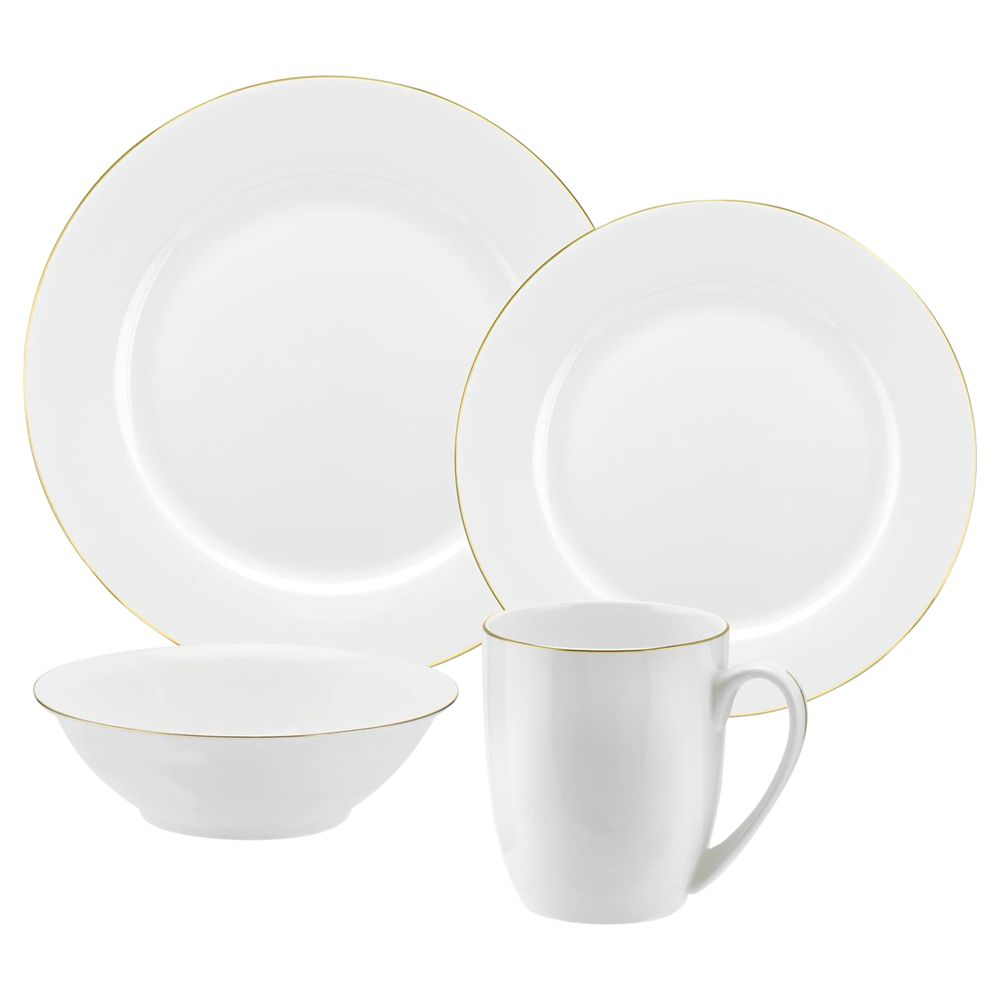 Royal Worcester Royal Worcester Serendipity Gold China Set, 16 Pieces