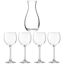 Buy LSA International Uno Carafe & Four Wine Glasses Online at johnlewis.com