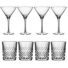 Buy Royal Leerdam Twins Cocktail Glasses, Set of 4 Martini Glasses and Set of 4 Tumblers Online at johnlewis.com