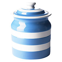 Buy Cornishware Storage Jar, White/ Blue, Seconds Online at johnlewis.com
