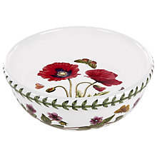 Buy Portmeirion Botanic Garden Poppy Salad Bowl, Dia.14cm, Seconds Online at johnlewis.com