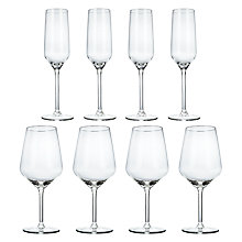Buy Royal Leerdam Twins Wine Glasses, Set of 4 Prosecco Glasses and Set of 4 Champagne Flutes Online at johnlewis.com