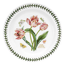 Buy Portmeirion Botanic Garden Pink Parrot Tulip Plate, Dia.25cm, Seconds Online at johnlewis.com
