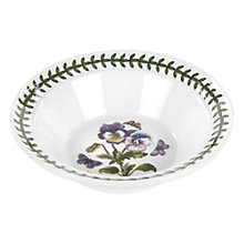 Buy Portmeirion Botanic Garden Pansy Cereal/ Soup Bowl, Dia.15cm, Seconds Online at johnlewis.com