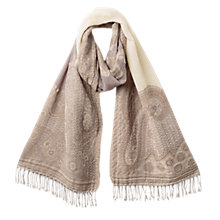Buy East Sabeeh Wool Shawl, Pebble Online at johnlewis.com