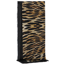 Buy Reiss Amelia Animal Print Scarf, Black Online at johnlewis.com