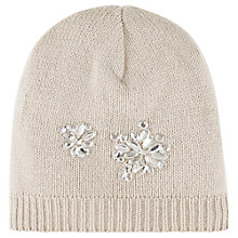 Buy Kaliko Embellished Beanie Hat, Light Brown Online at johnlewis.com