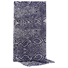Buy Reiss Orion Snake Print Scarf, Navy/White Online at johnlewis.com