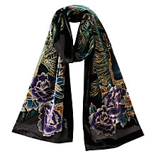 Buy East Peacock Devore Scarf, Multi Online at johnlewis.com
