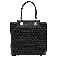 Buy Reiss Alberti Quilted Shopper Bag, Black Online at johnlewis.com