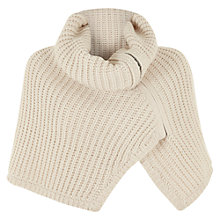 Buy Mint Velvet Knitted Zip Cape, Ecru Online at johnlewis.com