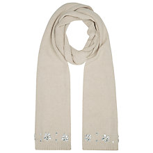 Buy Kaliko Embellished Scarf, Light Brown Online at johnlewis.com