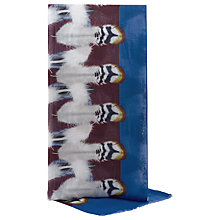 Buy Reiss Tivi Feather Print Scarf, Blue Online at johnlewis.com