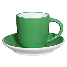 Buy John Lewis Colour Espresso Cup and Saucer, Forest Green Online at johnlewis.com