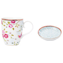 Buy PiP Studio Chinese Garden Mugs and Tea Tip Set, 3 Pieces, White Online at johnlewis.com