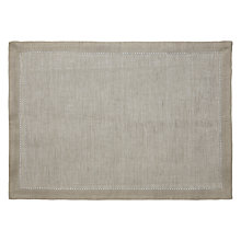 Buy Jigsaw Linen Placemat, Grey Online at johnlewis.com