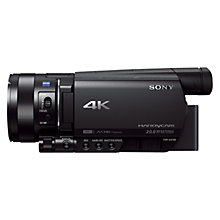 "Buy Sony AX100 4K Ultra HD Camcorder, 14.2MP, 12x Optical Zoom, 3.5"" LCD Touch Screen Online at johnlewis.com"