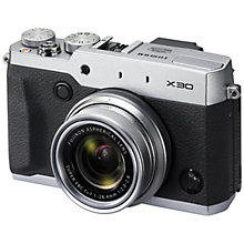 "Buy Fujifilm Finepix X30 Digital Camera, 12MP, 4x Optical Zoom, Wi-Fi with 3.0"" LCD Screen Online at johnlewis.com"