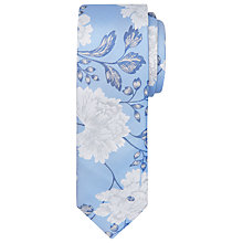 Buy Ted Baker Playit Floral Silk Tie, Blue Online at johnlewis.com