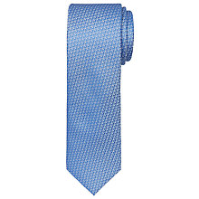 Buy Ted Baker Woven Geometric Pattern Silk Tie, Blue Online at johnlewis.com