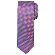 Buy Ted Baker Woven Geometric Pattern Silk Tie, Purple Online at johnlewis.com