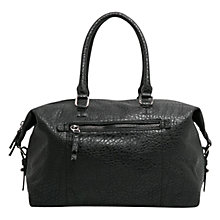 Buy Mango Pebbled Weekend Bag, Black Online at johnlewis.com