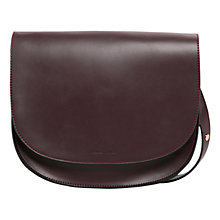 Buy Mango Flap Cross Flap Bag, Dark Red Online at johnlewis.com