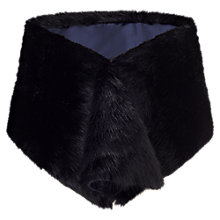 Buy Jigsaw Faux Fur Wrap Stole, Black Online at johnlewis.com