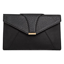 Buy Mango Snake Print Finish Messenger Bag, Black Online at johnlewis.com
