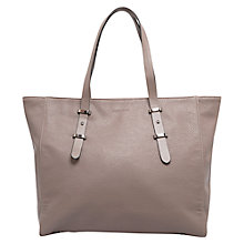 Buy Mango Pebbled Shoulder Bag, Medium Brown Online at johnlewis.com