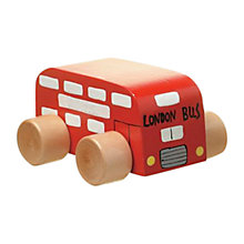 Buy Orange Tree Mini Wooden London Bus Online at johnlewis.com