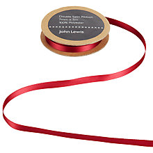 Buy John Lewis Satin Edge Sheer Ribbon, 7mm, Wine Online at johnlewis.com