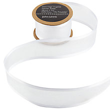 Buy John Lewis Wire Edge Satin Border Ribbon, 38mm Online at johnlewis.com