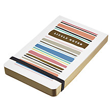 Buy Art File Summer Breeze A6 Jotter, Striped Online at johnlewis.com